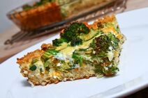 Broccoli and Cheddar Quiche with a Brown Rice Crust 1 500