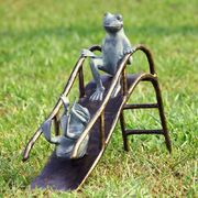 Ribbit and hops on slides