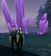 Crystals fallen from the Draenei ship