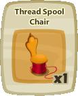 Inv Thread Spool Chair