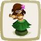 Icon Dashboard Hula Girl
