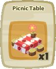 Inv Picnic Table