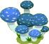 Small Blue Mushroom