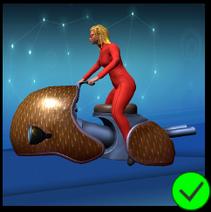 Lady Scarlet Falling Stars Bike