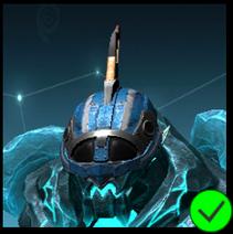 Graphite Cyber Mask Blue