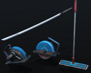 Weapons coloured