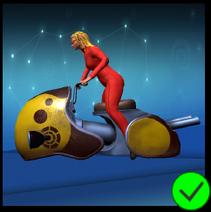 Lady Scarlet Yellow Bike