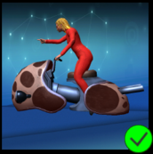 Lady Scarlet Grey Dalmatian Bike