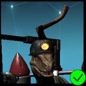 Raptor Axe in Head helmet