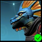 Vaako's Ninja Jaw Mask Blue and Green