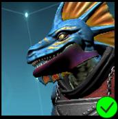 Vaako's Ninja Jaw Mask - Violet Green