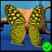 PaC Butterfly Wings Yellow