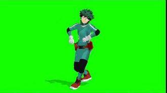 Deku doing the fortnite dance GREEN SCREEN