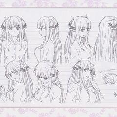 Diseño de Nino Nakano en el anime #4