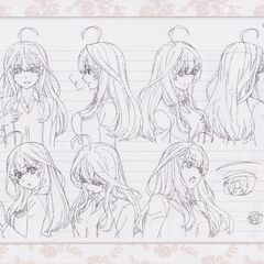 Diseño de Itsuki Nakano en el anime #4