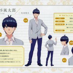 Diseño de Fuutarou Uesugi en el anime