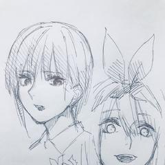 Ilustración de Ichika y Yotsuba.