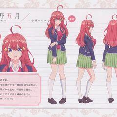 Diseño de Itsuki Nakano en el anime #1