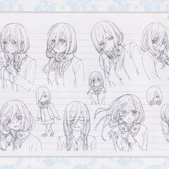Diseño de Miku Nakano en el anime #3