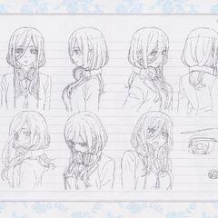 Diseño de Miku Nakano en el anime #4