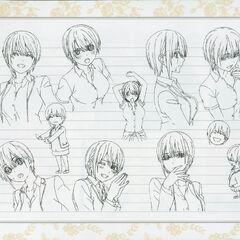 Diseño de Ichika Nakano en el anime #3