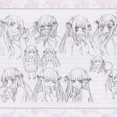 Diseño de Nino Nakano en el anime #3