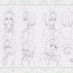 Diseño de Yotsuba Nakano en el anime #4