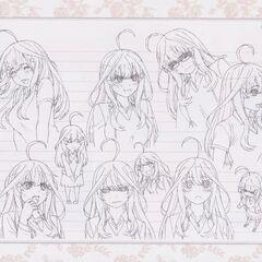 Diseño de Itsuki Nakano en el anime #3