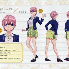 Diseño de Ichika Nakano en el anime #1