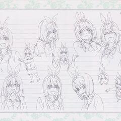 Diseño de Yotsuba Nakano en el anime #3