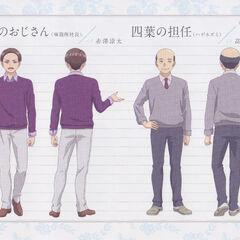 Diseño de Oda y el profesor de historia en el anime