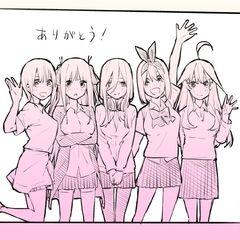 Ilustración de las Quintillizas Nakano.