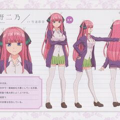 Diseño de Nino Nakano en el anime #1
