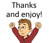 Thanks and enjoy