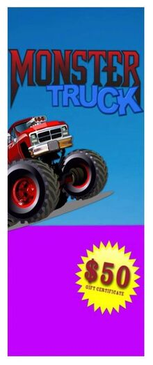 Toy Story 2 Monster Truck Poster