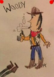 Toy Story 1 Woody Shooting Criminal Drawing