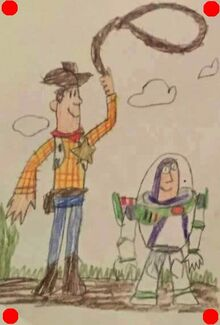 Toy Story 2 Woody & Buzz Drawing