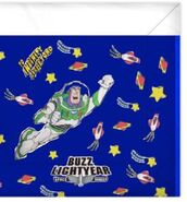 Toy Story 2 Buzz Lightyear-Themed Blanket (with the right side cut off)