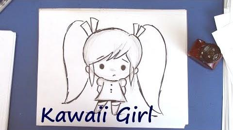 How to Draw a Kawaii Girl - Easy to Draw!