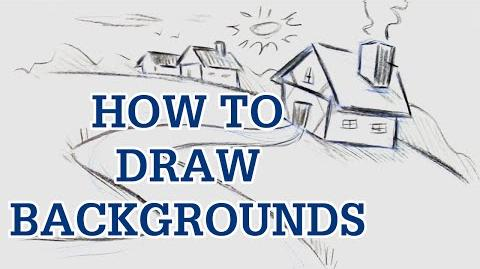 How to Draw Backgrounds - Cartoon Drawing