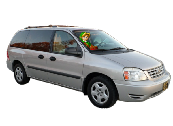 Young Link Driving His 2004 Ford Freestar Van