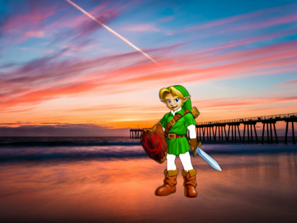 Young Link Watches Sunset In Los Angeles Beach