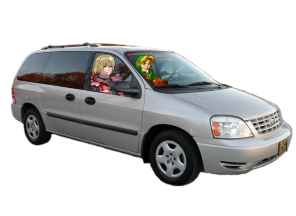 Young Link And Shulk In 2004 Ford Freestar Van