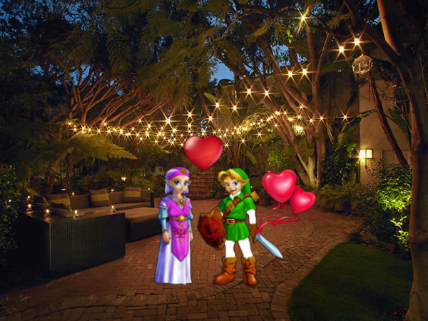 Young Link And Young Zelda At Romantic