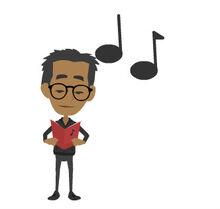 Peter is singing