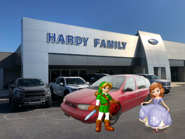 Young Link And Sofia The First At The Ford Dealer
