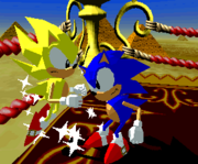 Super sonic and Normal Sonic