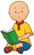 Caillou reading