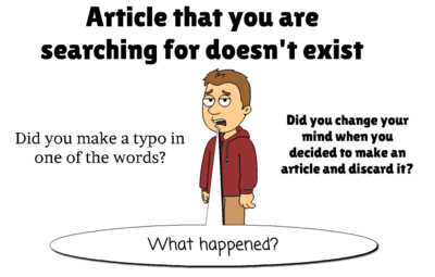 Article doesn't exist