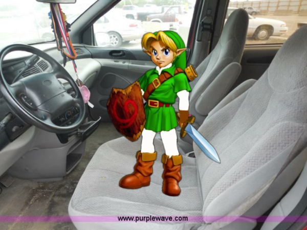Young Link Drives His 1998 Ford Windstar Van